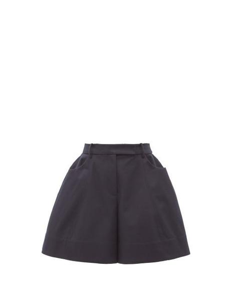 Simone Rocha - Puffed Twill Shorts - Womens - Navy