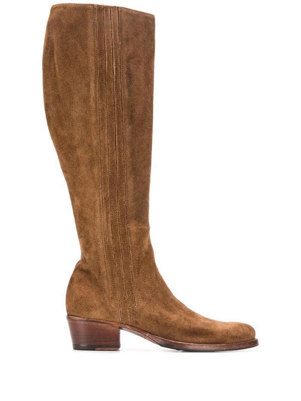 Alberto Fasciani Yara textured knee-length boots in brown
