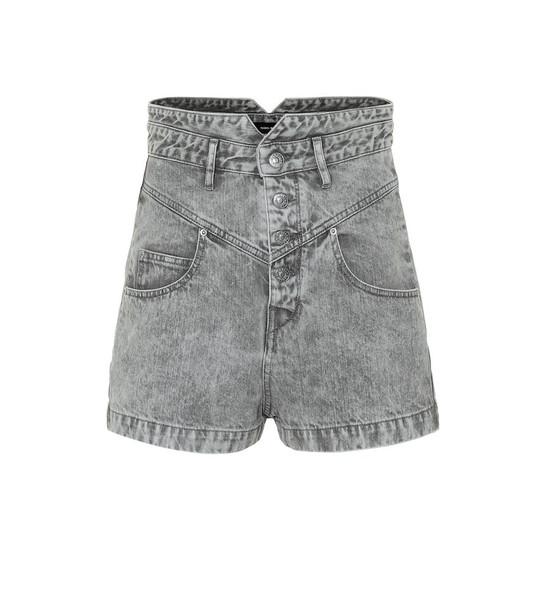 Isabel Marant Exclusive to Mytheresa – Aloa high-rise denim shorts in grey