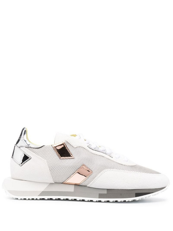 Ghoud panelled low-top sneakers in white