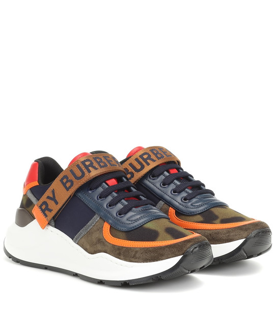 Burberry Ronnie leather-trimmed sneakers