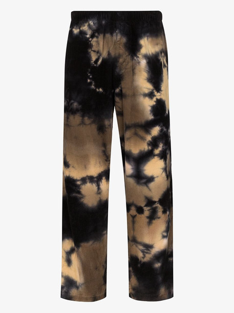 Futur tidy core tie-dye effect cotton trousers