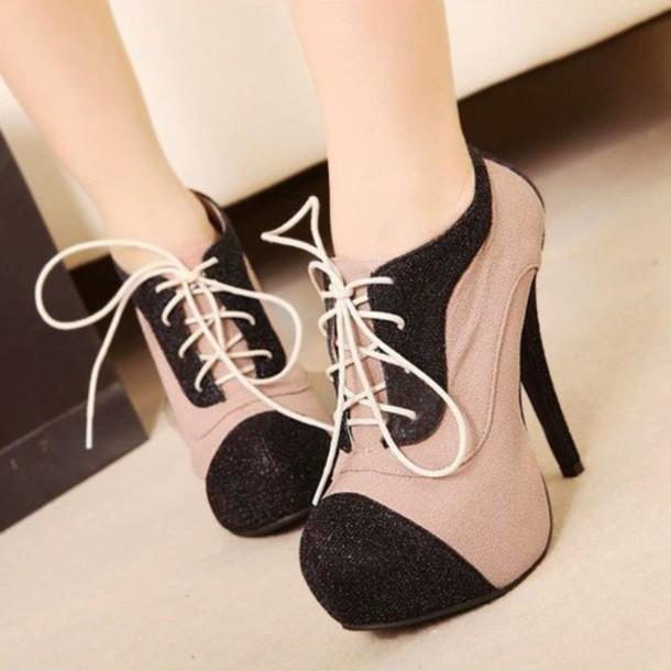 shoes, adorbs, lace up heels, original