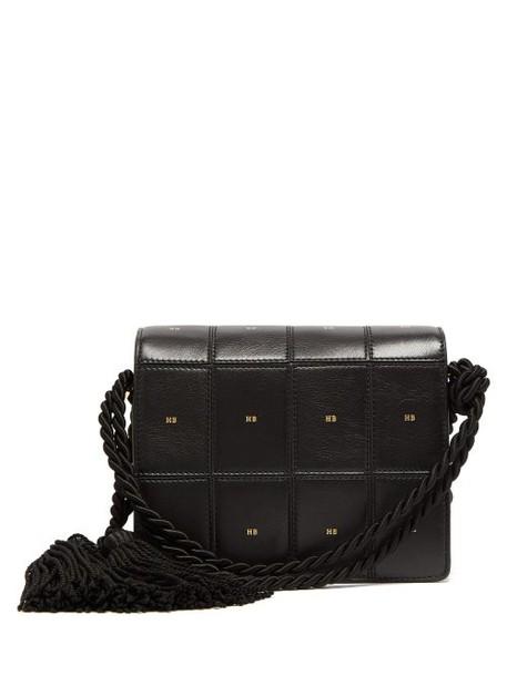 Hillier Bartley - Logo Print Panelled Leather Satchel - Womens - Black