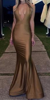 dress,deep v mermaid dress