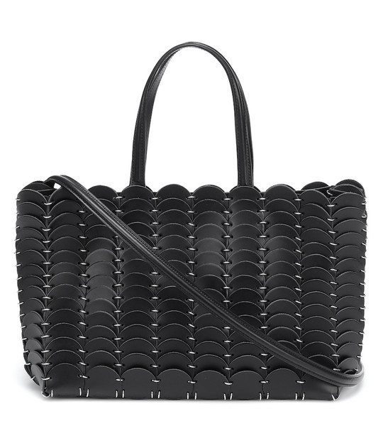 Paco Rabanne Pacoïo leather tote in black