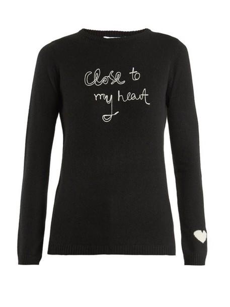 Bella Freud - Close To My Heart Cashmere Sweater - Womens - Black