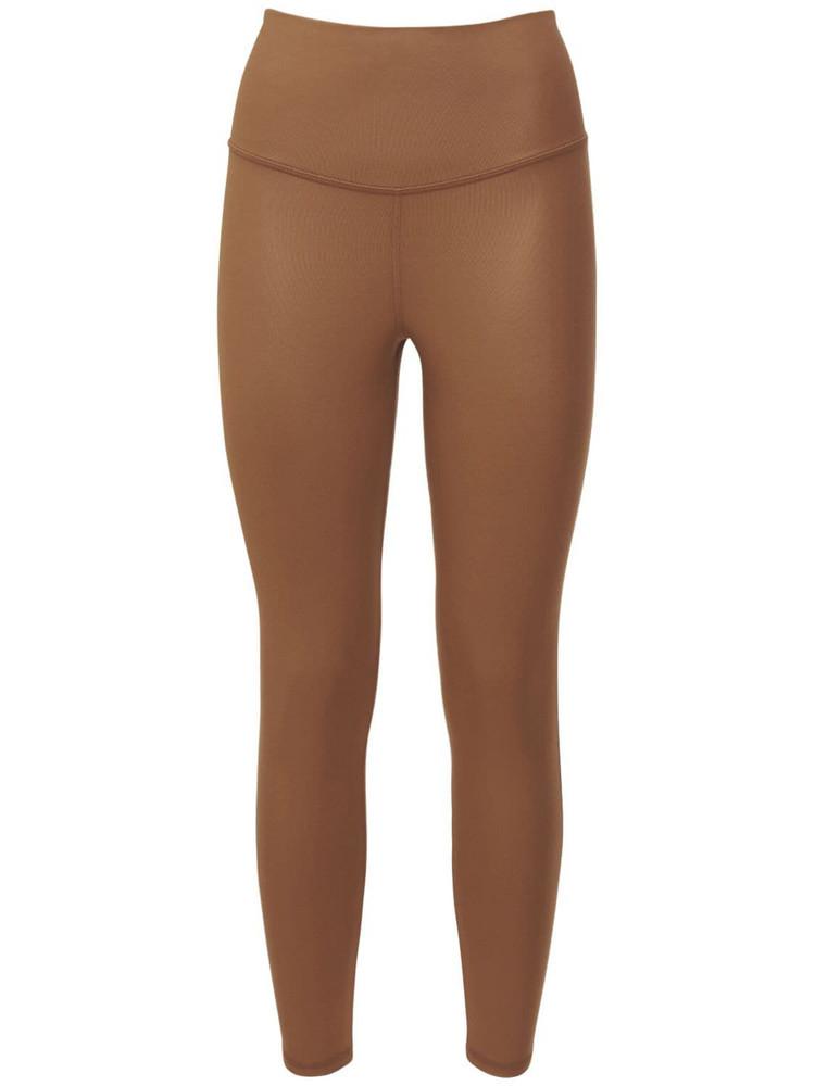 MICHI Instinct Gloss Leggings in brown