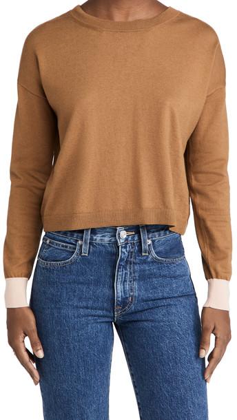 Marni Crew Neck Sweater in brown / gold