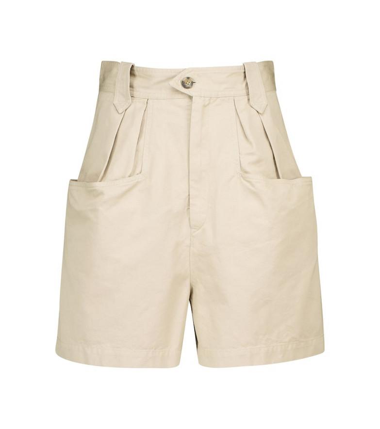 Isabel Marant, Étoile Palinoa cotton paperbag shorts in beige
