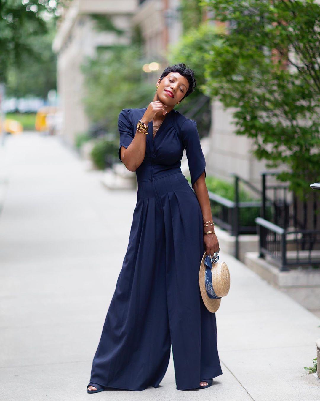 jumpsuit sandal heels short sleeve hat