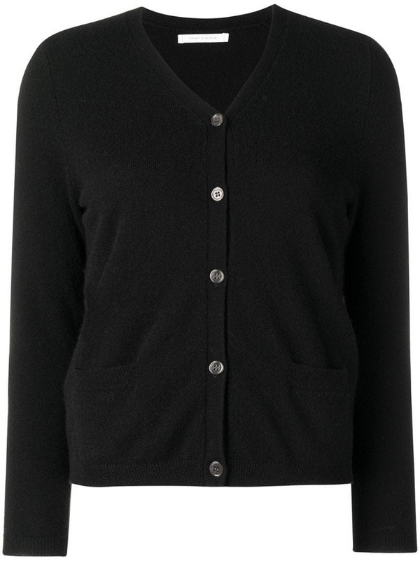 Chinti and Parker v-neck cashmere sweater in black
