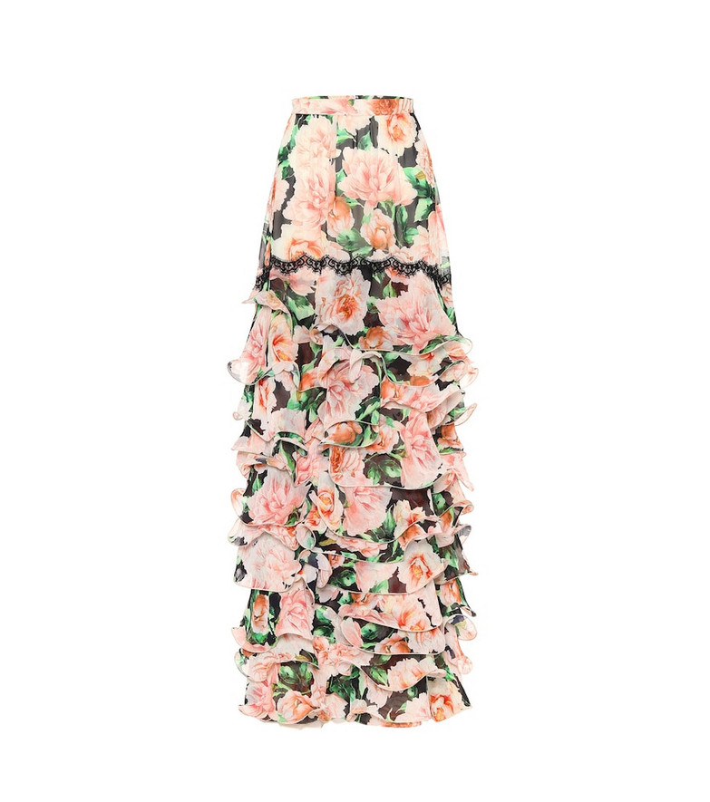 Costarellos Floral crêpe skirt