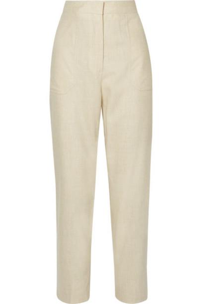 Fendi - Wool-blend Straight-leg Pants - Ivory