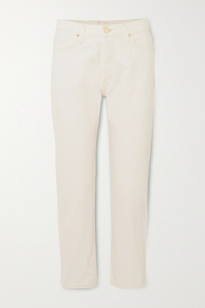 GOLDSIGN - Net Sustain The Low Slung Cropped Mid-rise Straight-leg Jeans - White