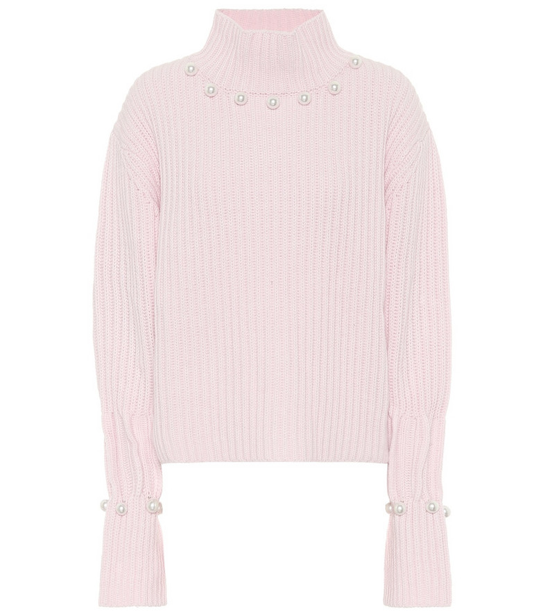 JW Anderson Wool and cashmere sweater in pink