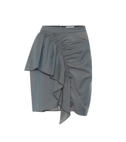 Isabel Marant, Étoile Nely cotton-blend miniskirt in grey