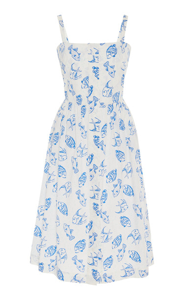 HVN Laura Printed Cotton Dress in print