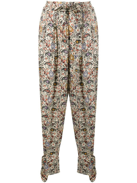 Isabel Marant Étoile Rexty paisley trousers in neutrals