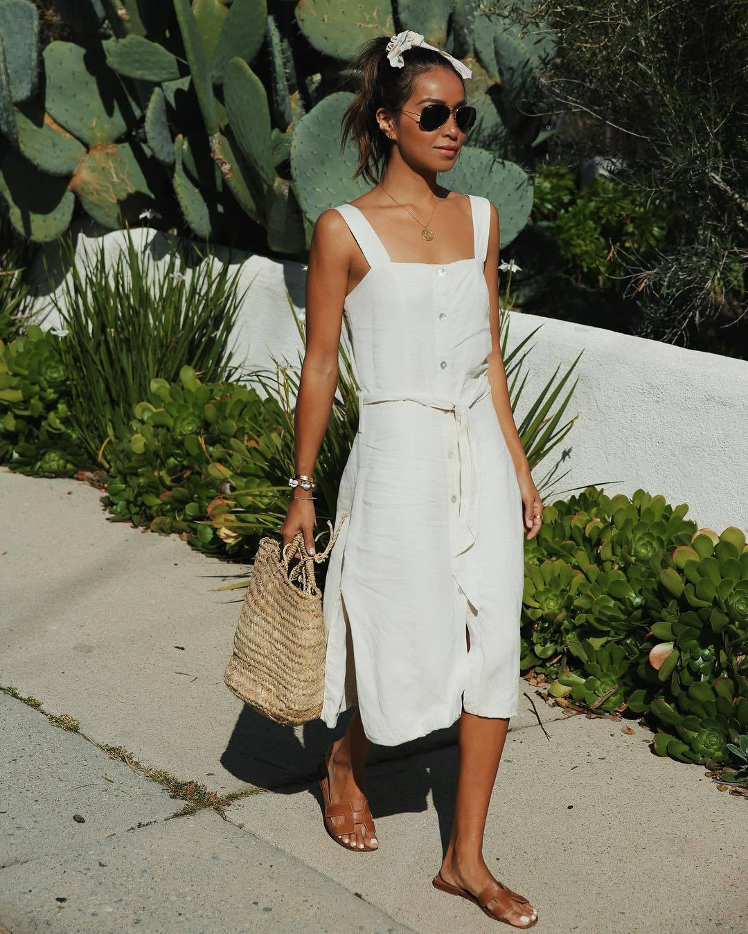 dress, white dress, midi dress