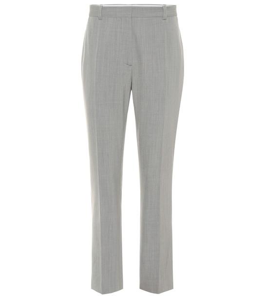Joseph Zoom wool-blend straight pants in grey