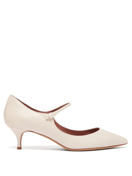Tabitha Simmons - Hermione Mary Jane Leather Pumps - Womens - Ivory