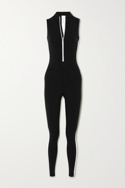 Vaara - Dean Thermal Striped Stretch Bodysuit - Black