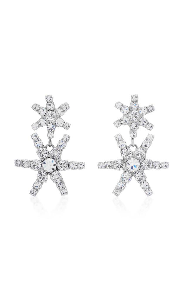Jennifer Behr Pluto Crystal Drop Earrings in metallic