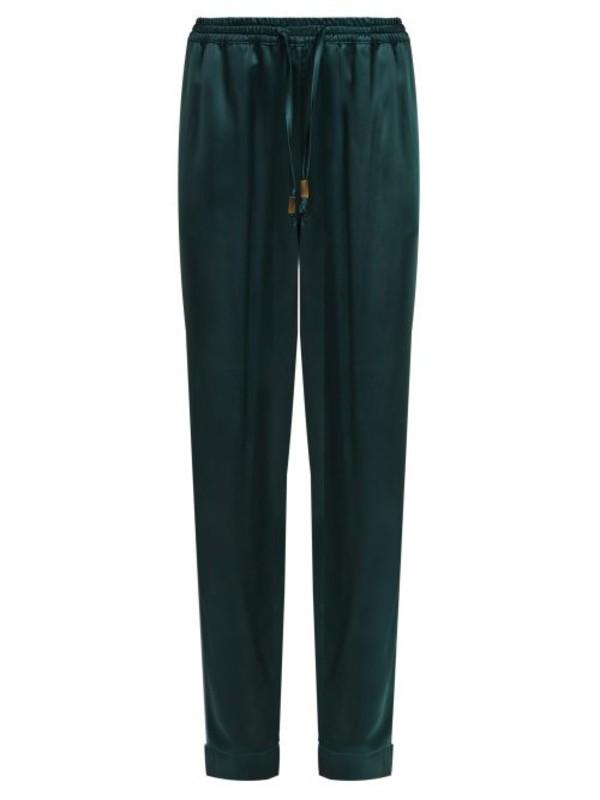 MORPHO + LUNA Morpho + Luna - Zac Satin Pyjama Trousers - Womens - Dark Green