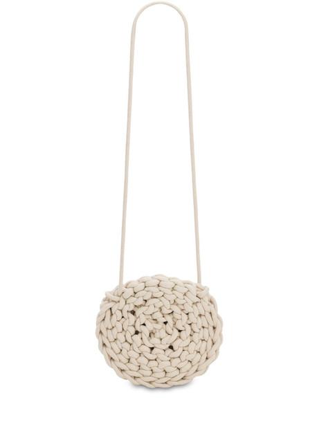 ALIENINA Round Rope Cotton Crossbody Bag in natural
