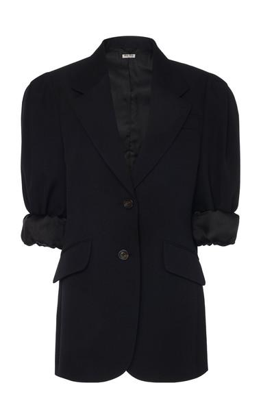 Miu Miu Puff Sleeve Blazer Size: 36 in black