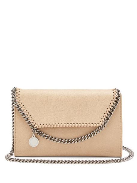 Stella Mccartney - New Falabella Mini Faux-suede Shoulder Bag - Womens - Beige