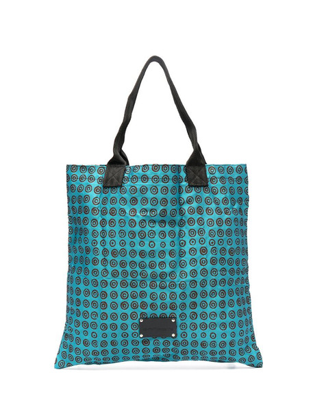 10 CORSO COMO geometric print tote bag in blue
