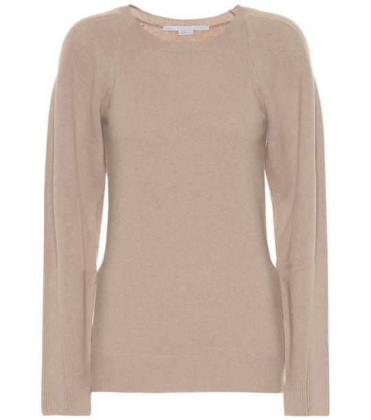 Stella McCartney Virgin wool sweater in beige