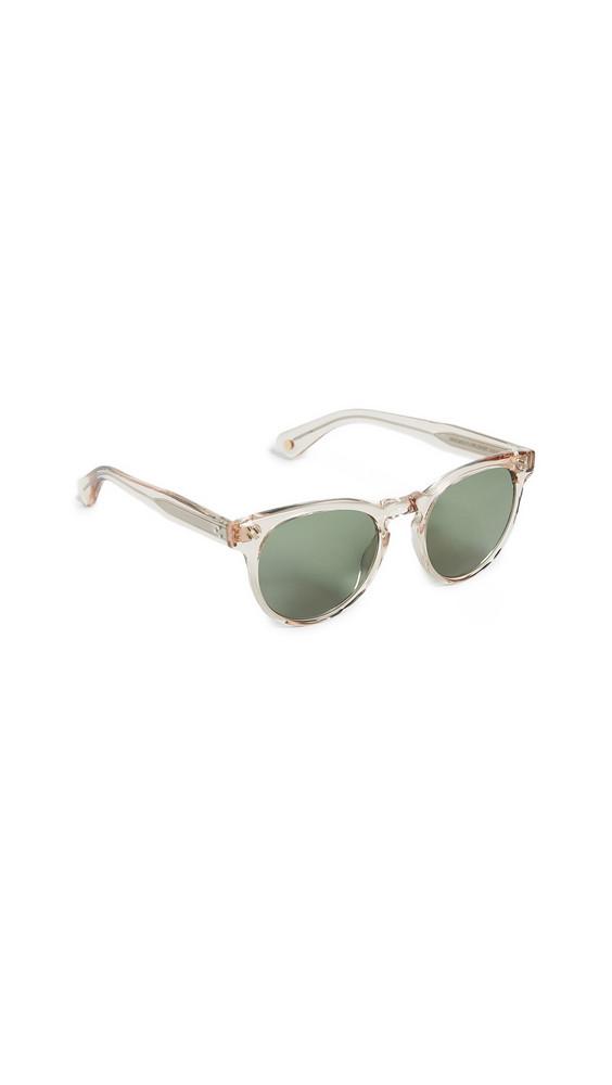 GARRETT LEIGHT Boccaccio 50 Sunglasses in green