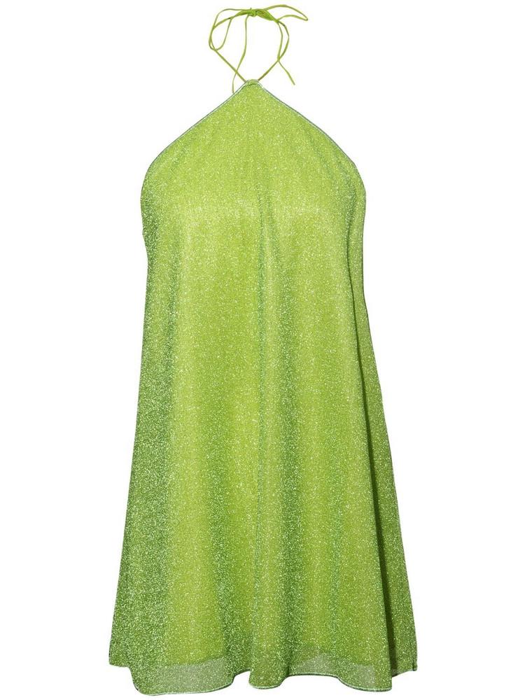 OSÉREE SWIMWEAR Lumière Necklace Mini Dress in green