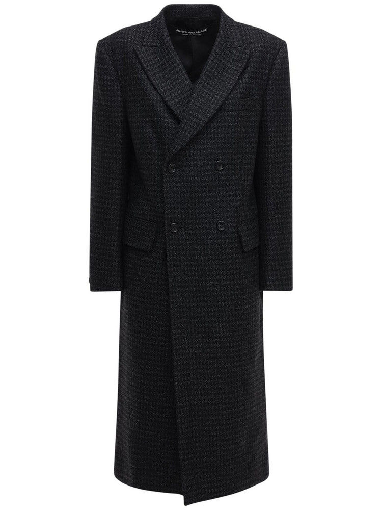 JUNYA WATANABE Double Breasted Wool Coat in black / grey