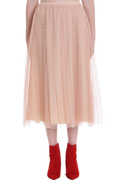 RED Valentino Skirt In Powder Cotton