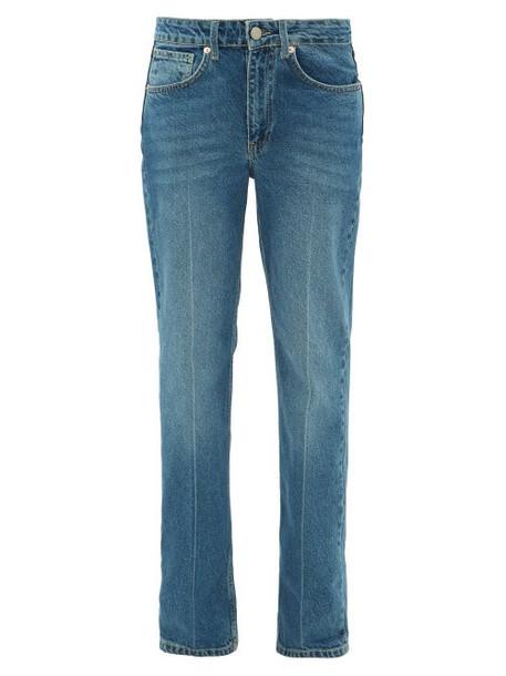 Raey - Push Straight-leg Jeans - Womens - Dark Blue