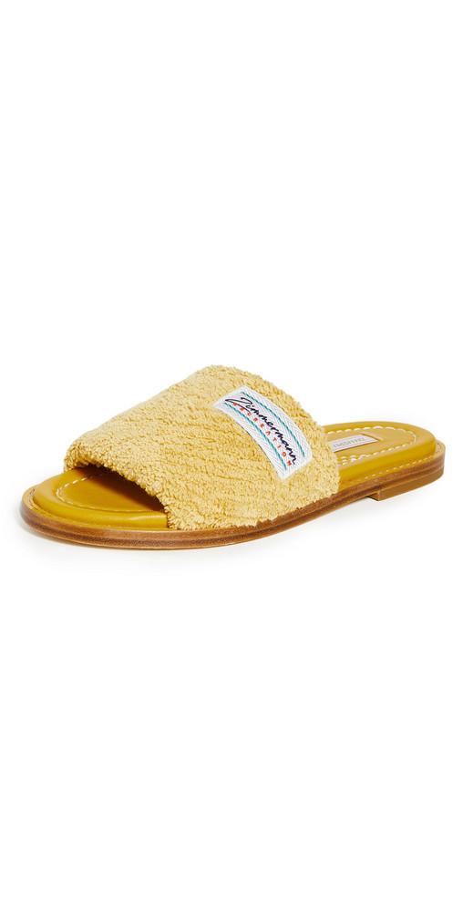 Zimmermann Chubby Terry Towel Slides in mustard