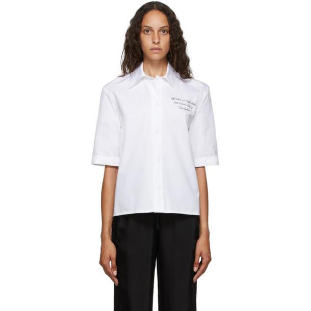 Off-White White Baseball Shirt