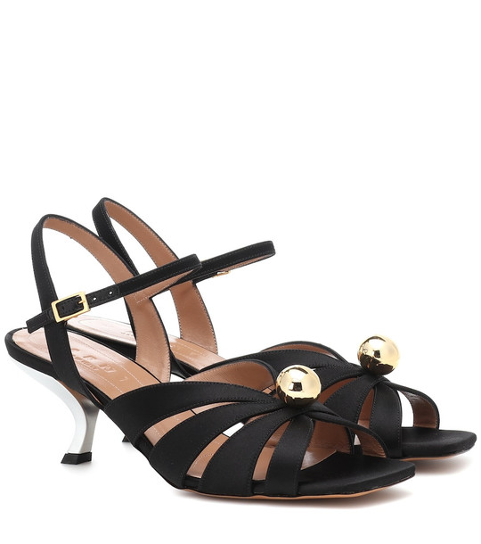 Marni Satin sandals in black