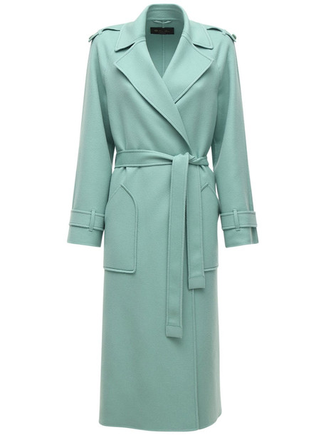 LORO PIANA Belted Cashmere Coat in green