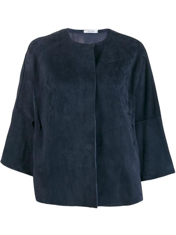 Salvatore Santoro collarless jacket in blue