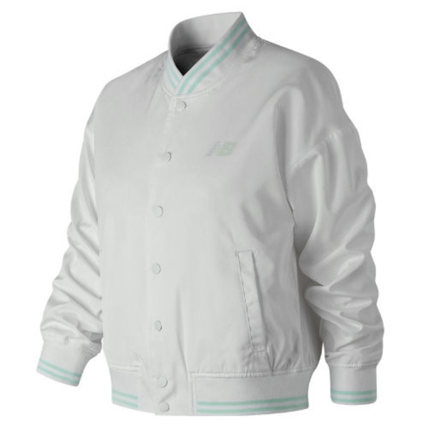 New Balance 91575 Women's Essentials Stadium Jacket - White (WJ91575WT)