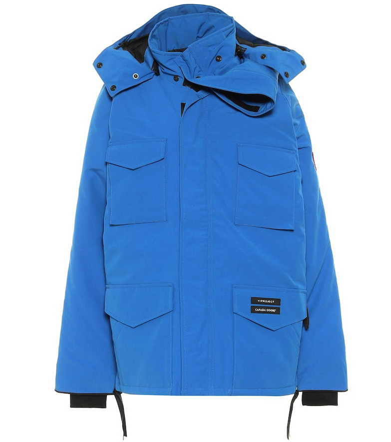 Y/PROJECT x Canada Goose Constable hooded down parka in blue