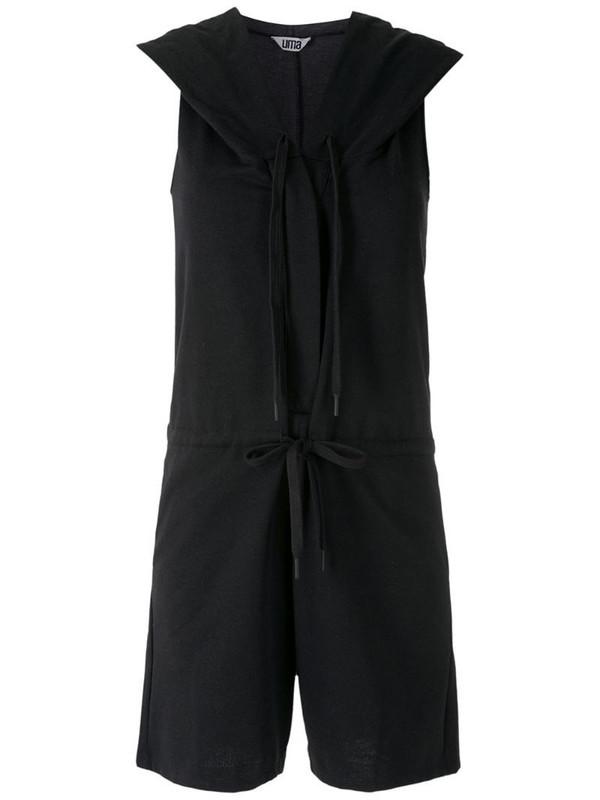 Uma - Raquel Davidowicz Trena pockets playsuit in black
