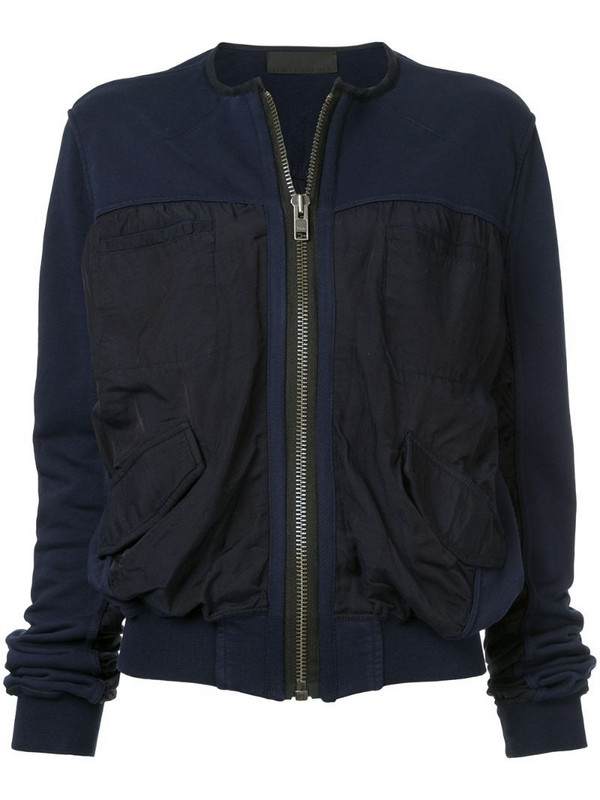 Haider Ackermann Perth bomber jacket in blue