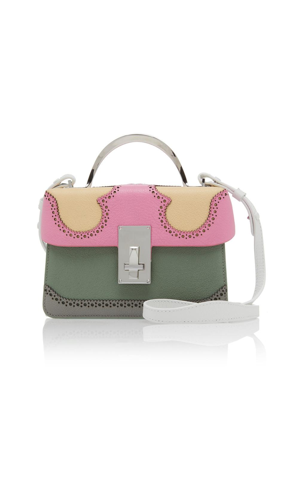 The Volon Data Alice Color Block Leather Bag in multi