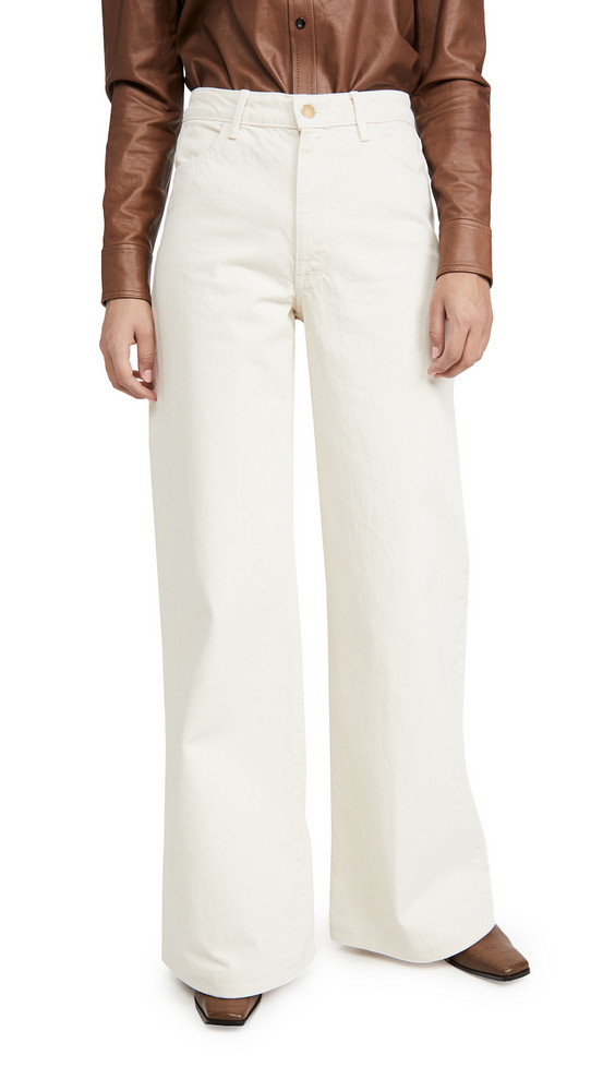 Triarchy High Rise Wide Leg Jeans in white